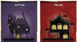 Как бы выглядели дома кинорежиссеров, если бы их дизайн был основан на их собственных фильмах.