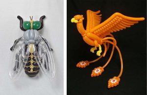 Невероятные животные из надувных шариков от художника Масейоши Мацумото