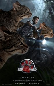 Динозавров из «Парка Юрского периода» заменили на котов