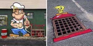 43 Фото: Американский художник Том Боб создает арт-объекты из обычных уличных предметов.