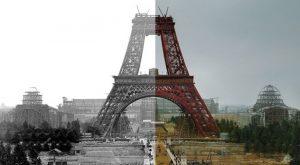 Британский фотоколорист раскрасил снимки строящихся достопримечательностей.