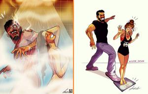 Художник из Тель-Авива сублимирует жизнь со своей женой