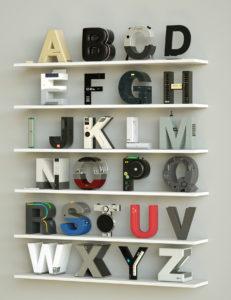 Известные бренды в виде букв алфавита