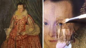 Британский искусствовед снял с картины XVII века 200-летний слой пожелтевшего  лака. Посмотрите, что с ней стало