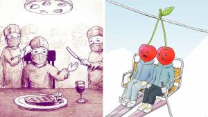 Японский художник рисует интересные картинки об окружающем нас мире
