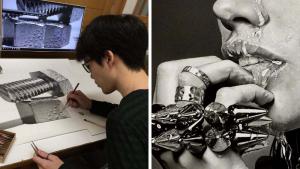 Японский художник создает карандашные рисунки, которые выглядят невероятно реалистично.