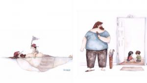 Любовь между папой и дочкой в иллюстрациях украинской художницы Снежаны Суш.