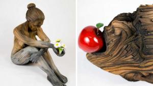Скульптор шутит над восприятием,  его керамические скульптуры — это дерево?