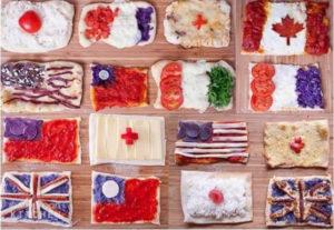 18 национальных флагов, приготовленных из самых известных национальных продуктов