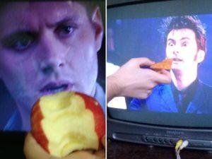 Люди решили, что актеры на экране голодны, и начали их кормить