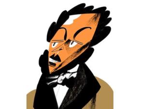Только человек, разбирающийся в русской литературе, узнает писателя по его карикатуре