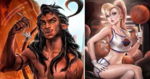 Художники изображают старых добрых мультяшных персонажей в образе людей. Результат вас удивляет?