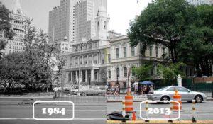Фотографии Нью-Йорка прошлых лет пересняли и сравнили