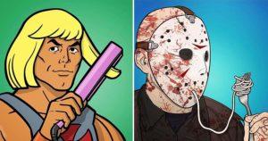Иллюстратор раскрывает секреты персонажей из фильмов и мультфильмов