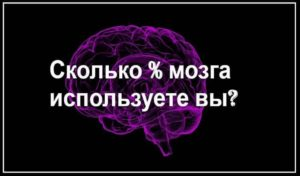 Сколько процентов потенциала своего мозга вы реально используете? Тест для тебя