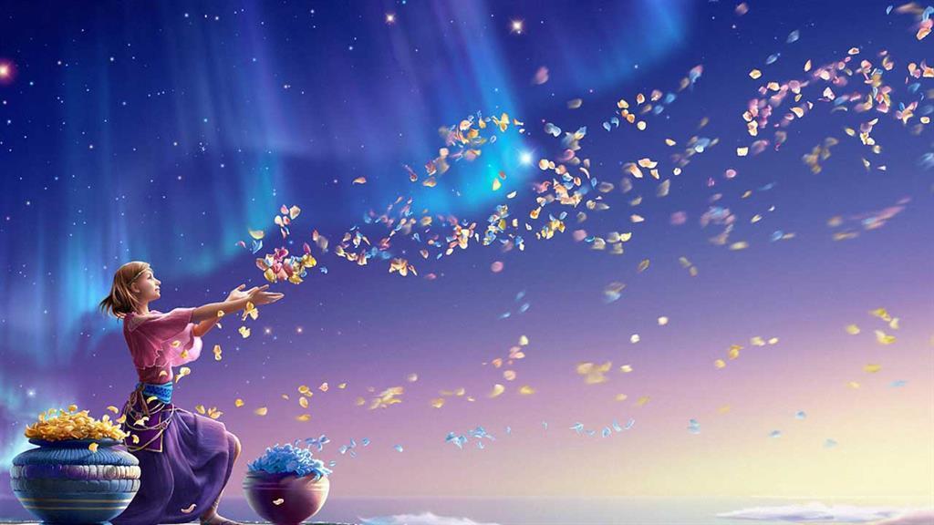 Открытка с днем рождения со звездным небом