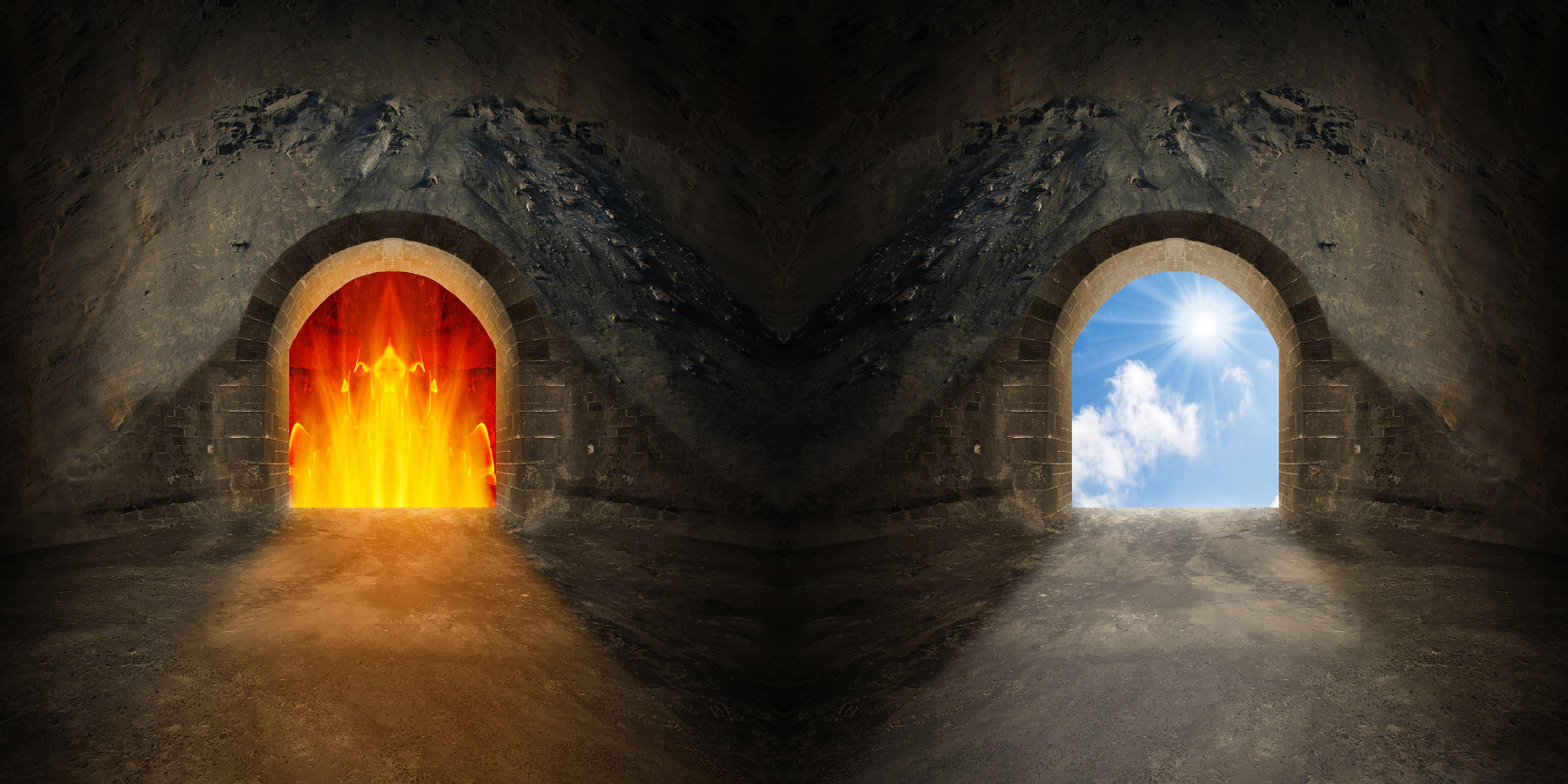 Картинка рай и ада